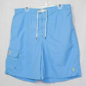 Polo by Ralph Lauren Light Blue Swim Trunks Shorts